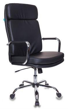 Кресло руководителя Бюрократ T-9907/BLACK черный искусственная кожа крестовина хром