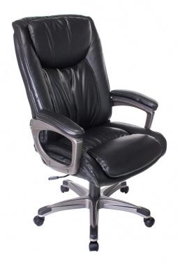 Кресло руководителя Бюрократ T-9914/BLACK черный рец.кожа/кожзам