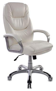 Кресло руководителя Бюрократ T-9905S/WHITE белый искусственная кожа (пластик серебро)