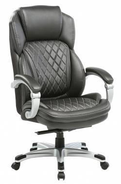 Кресло руководителя Бюрократ T-9915/BLACK черный кожа/кожзам