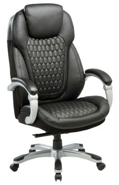 Кресло руководителя Бюрократ T-9919/BLACK сиденье черный кожа/кожзам