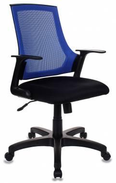 Кресло Бюрократ CH-500/BL/TW-11 спинка сетка синий сиденье черный TW-11