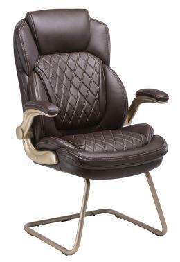 Кресло Бюрократ T-9915A-LOW-V/BROWN низкая спинка коричневый рец.кожа/кожзам
