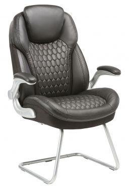 Кресло Бюрократ T-9917A-LOW-V/BLACK низкая спинка черный рец.кожа/кожзам