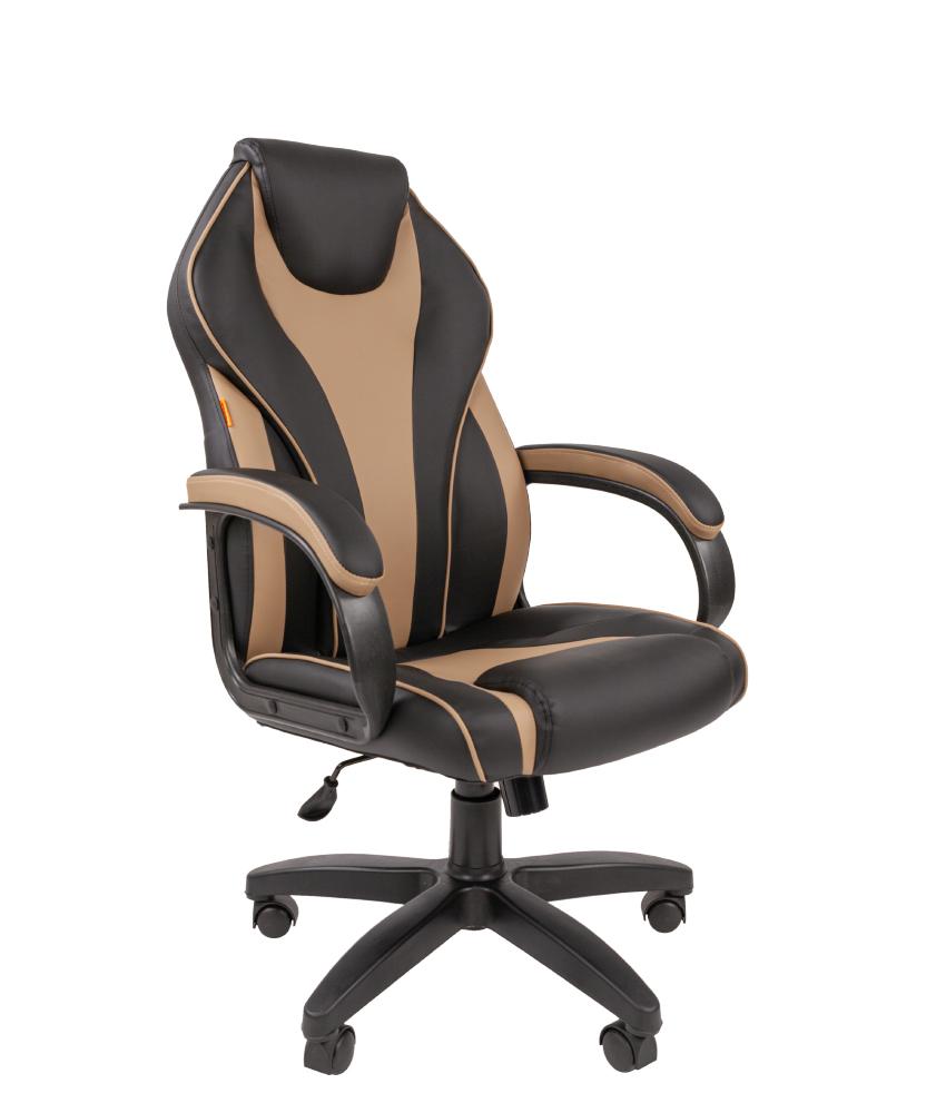 Кресло CHAIRMAN 299 бежево-черная экокожа