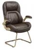 Кресло Бюрократ T-9919A-LOW-V/BROWN низкая спинка коричневый рец.кожа/кожзам
