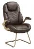 Кресло Бюрократ T-9917A-LOW-V/BROWN низкая спинка коричневый рец.кожа/кожзам