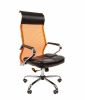 Кресло CHAIRMAN 700 сетка оранжевая