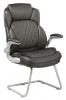 Кресло Бюрократ T-9915A-LOW-V/BLACK низкая спинка черный рец.кожа/кожзам