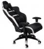 Кресло игровое Бюрократ CH-772/BLACK+WH две подушки белый/черный искусственная кожа (пластик черный/