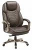 Кресло руководителя Бюрократ T-9917/BROWN коричневый кожа/кожзам